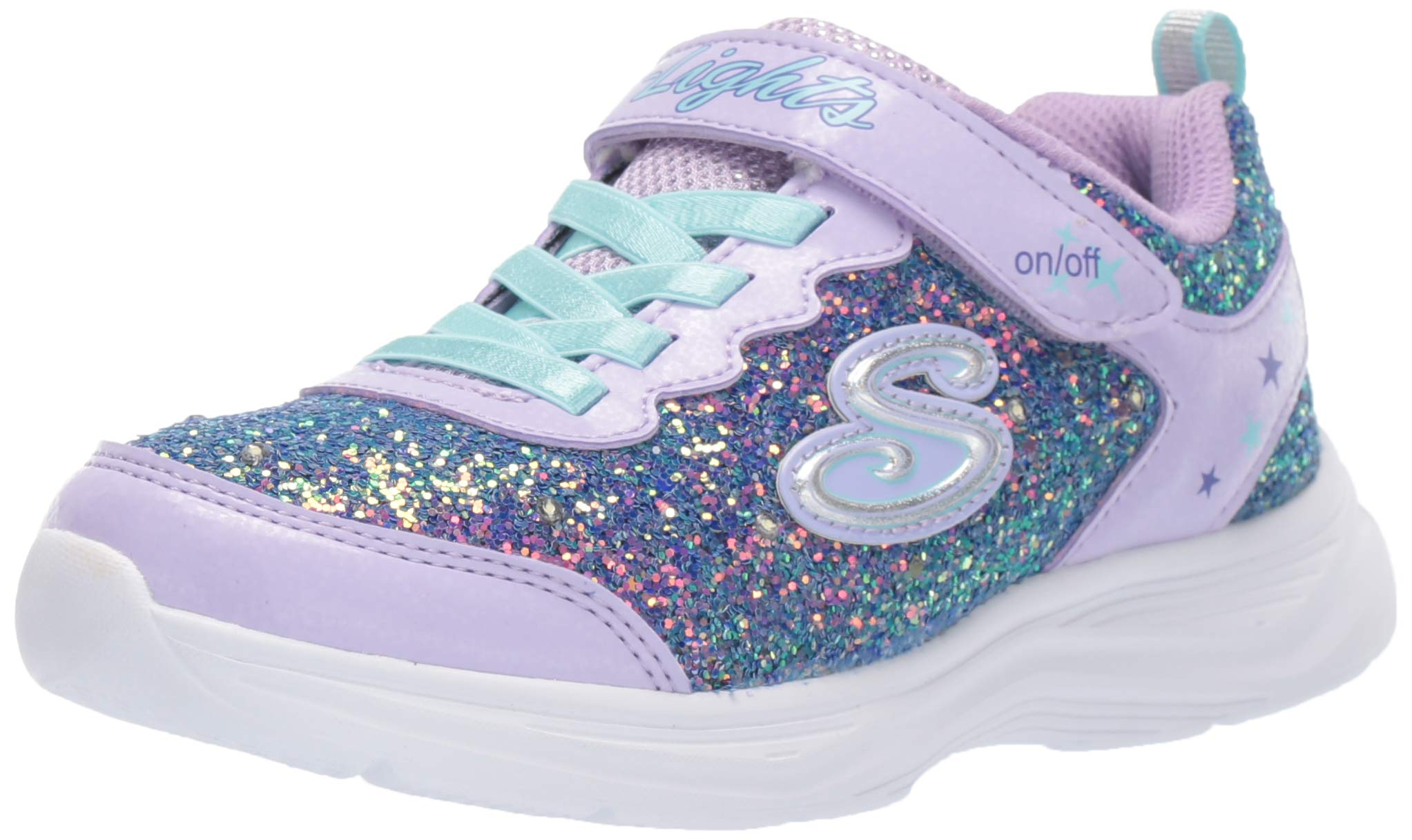 ویکالا · خرید  اصل اورجینال · خرید از آمازون · Skechers Kids Girls' Glimmer Kicks Sneaker, Lavender/Aqua, 11 Medium US Little Kid wekala · ویکالا