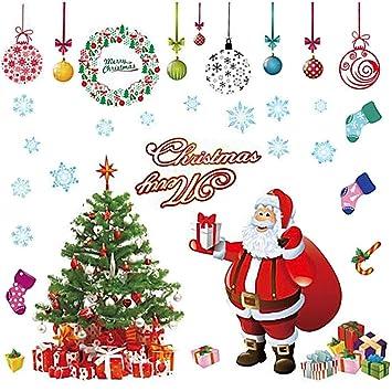 Frohe Weihnachten In Bildern.Weksi Inc Xxl Frohe Weihnachten Weihnachtsmann Weihnachtsbaum Weihnachten Strümpfe Weihnachten Geschenke Wandaufkleber