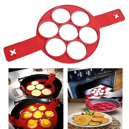 Huevo Frito y Crepes Tortitas Panqueques de Moldes del Silicona Cocina Anillos Herramienta de cocina