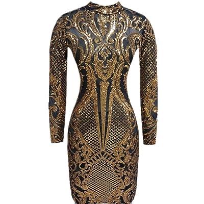 VIVOSKY Women Sparkly Sequin Dresses Cocktail Dresses for Women Sexy Club Outfits for Women: Clothing