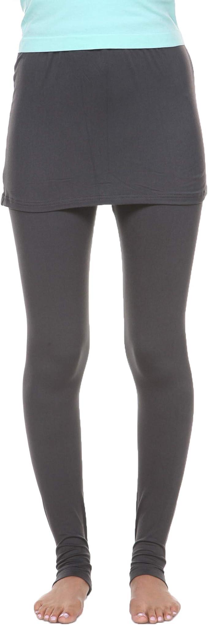 Amazon.com: White Mark - Leggings para mujer con falda de ...