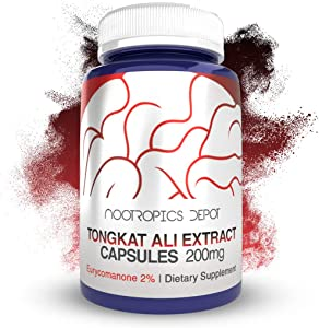 Tongkat Ali Extract Capsules | 200mg | 120 Count | 2% Eurycomanone by HPTLC | Eurycoma longifolia Root Extract