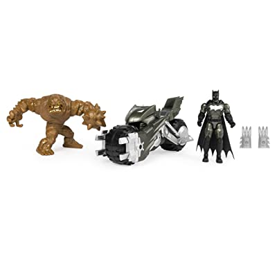 BATMAN Batcycle Vehicle with Exclusive and CLAYFACE 4-Inch Action Figures: Toys & Games