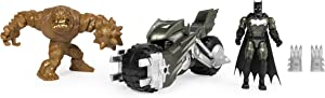 BATMAN Batcycle Vehicle with Exclusive and CLAYFACE 4-Inch Action Figures