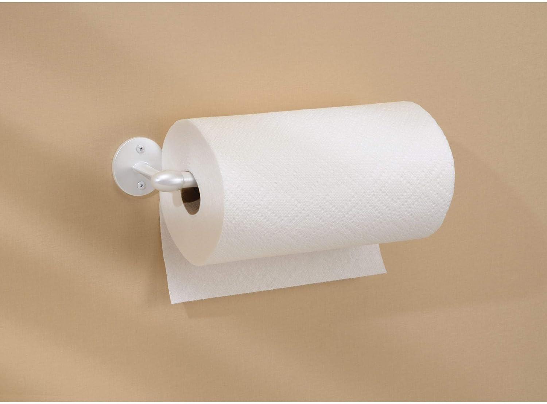 Portarrollos de pared para un rollo Sencillo soporte para papel de cocina InterDesign Orbinni Porta rollo Metal blanco