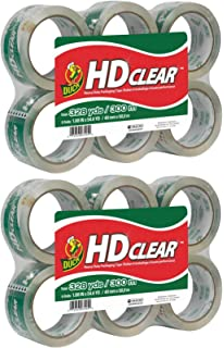 1.88-Inch x 55 yds 6//Pack Clear 3-Inch Core 2-Inch x 22 Duck 240053 Commercial Grade Packaging Tape