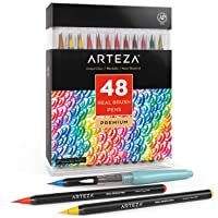 Arteza Real Brush Pens 48 Colors for Watercolor Painting