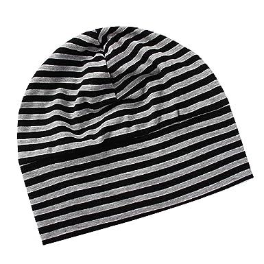 Homme Femme Bonnet de Nuit Coton Multiusage avec Masque des Yeux Chapeau  Turban Tricoté Surdimensionné - 806884831fe