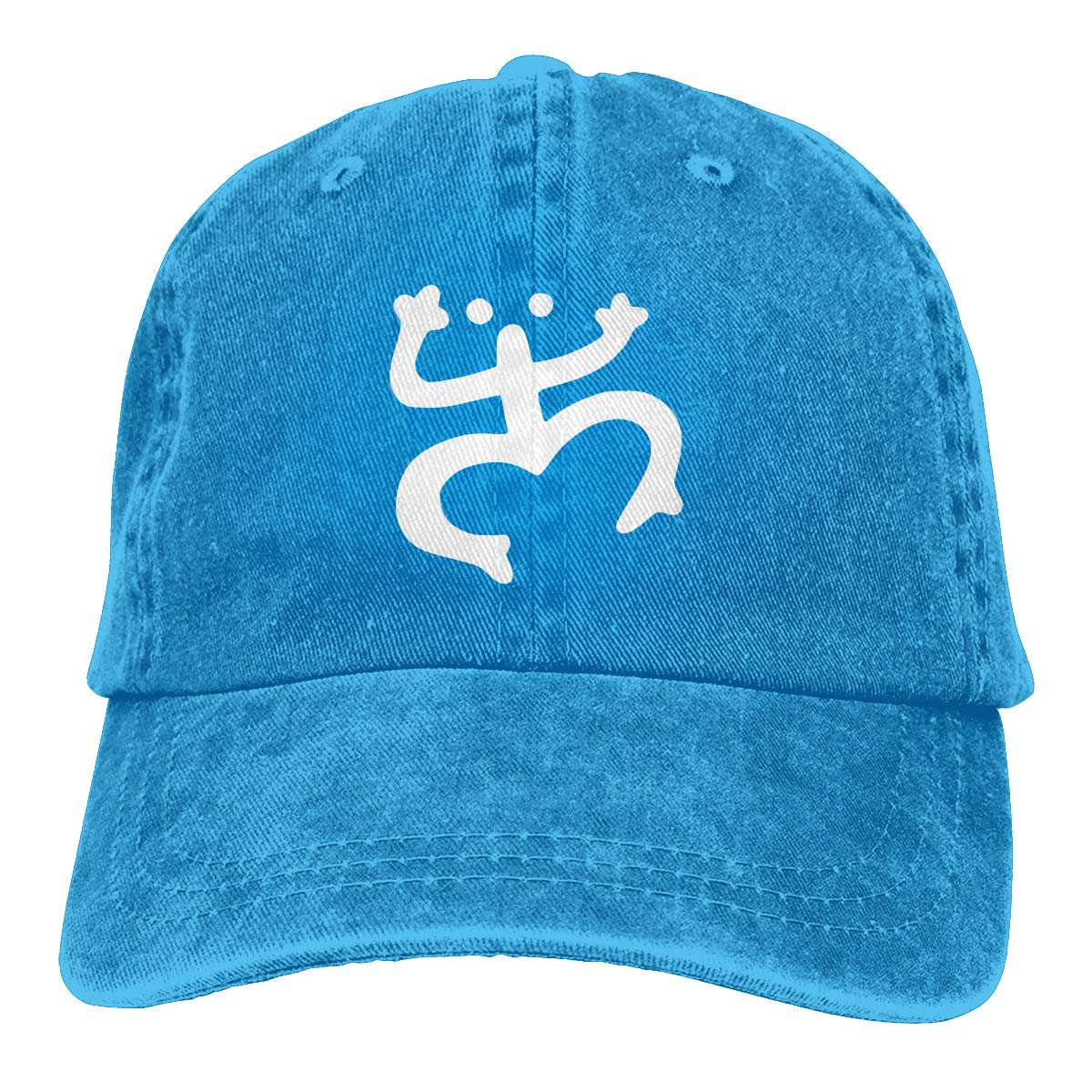 Coqui Puerto Rico Taino Fashion Adjustable Cowboy Cap Denim Hat for Women and Men
