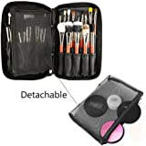 MLMSY Professional Cosmetic Makeup Brush Organizer Beauty Artist Storage Brush Bag with Belt Strap Holder Makeup Handbag