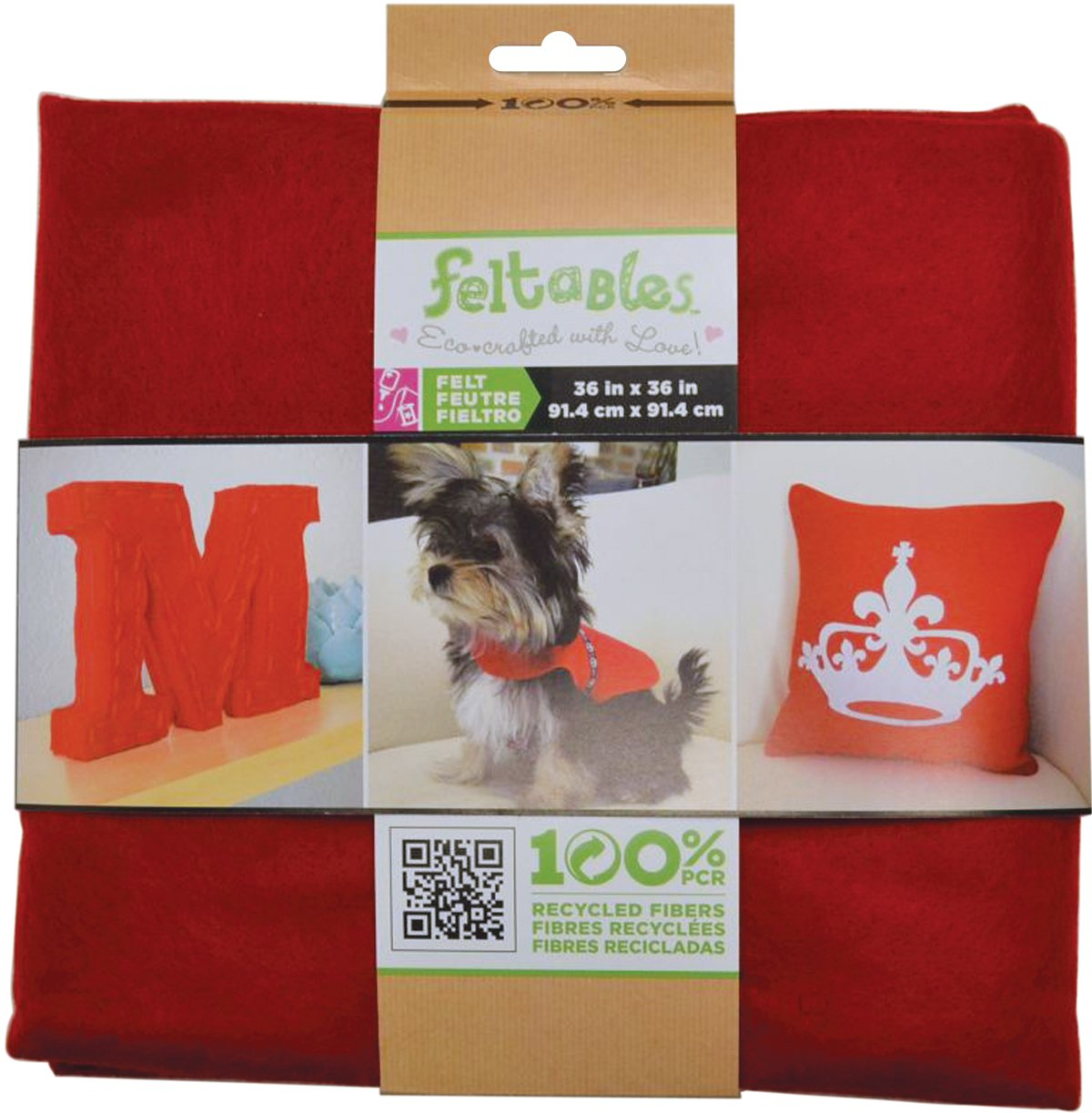 The New Image Group New Image Group Feltables Craft Pack Felt, 36 x 36-Inch, Red FELTCP-50006