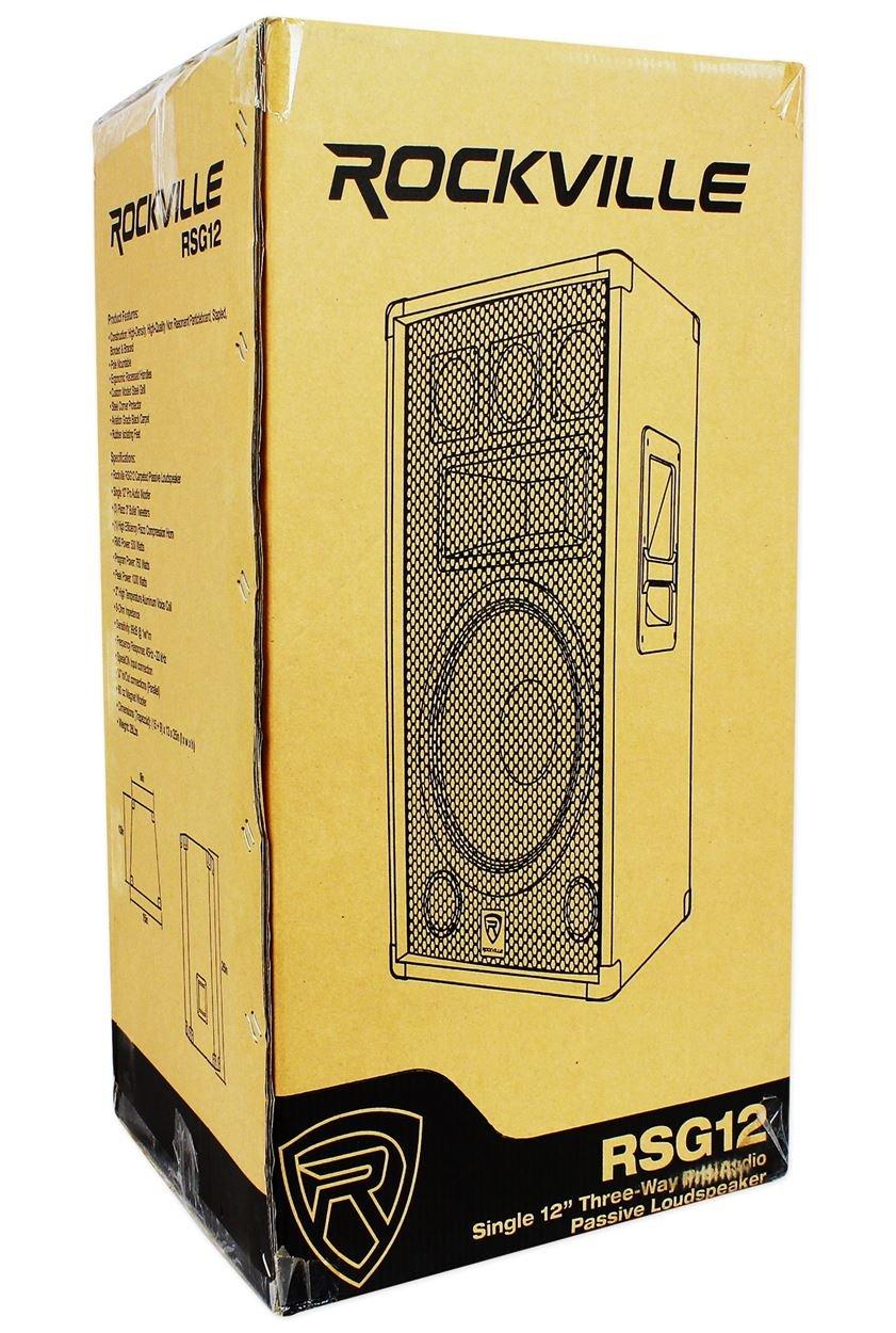 Rockville Rsg12 12 3 Way 1000 Watt 8 Ohm Passive Dj Pro Subwoofer Wiring Diagram Dual 2 Audio Pa Speaker Musical Instruments