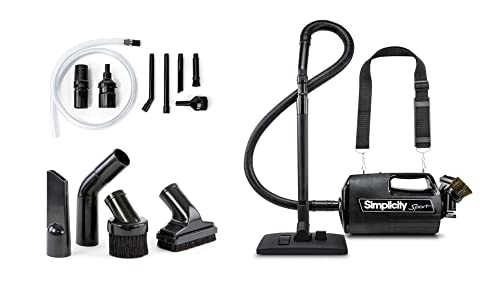 Simplicity S100 Canister and Car Vacuum Cleaner Handheld Charcoal Filter Crevice Tool and More