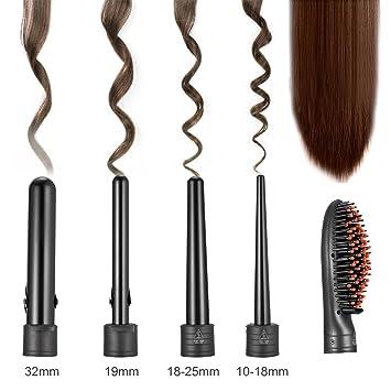 sweetop 5 en 1 – Rizador de pelo cepillo de pelo cepillo 5 puntas (kegelförmiger