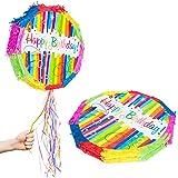 Unique Party Supplies Pull Pinata Ballon bunt POPOUT Schn/üre zum Aufziehen f/ür Kindergeburtstag