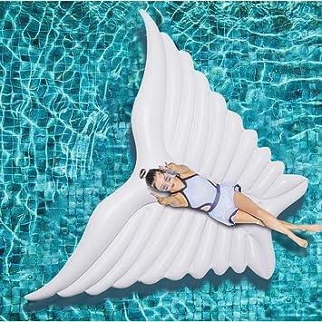 HLZDH Flotador inflable de la mariposa del ala del ángel con la fiesta Gigante Flotador Inflable