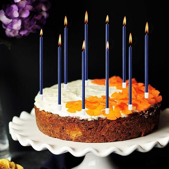 Blulu 50 St/ücke Geburtstag Kuchen Kerzen in Halter Cupcake Kerzen Kurze D/ünne Torte Kerzen f/ür Geburtstag Hochzeit Party Kuchen Dekoration Lieferungen Rose Gold