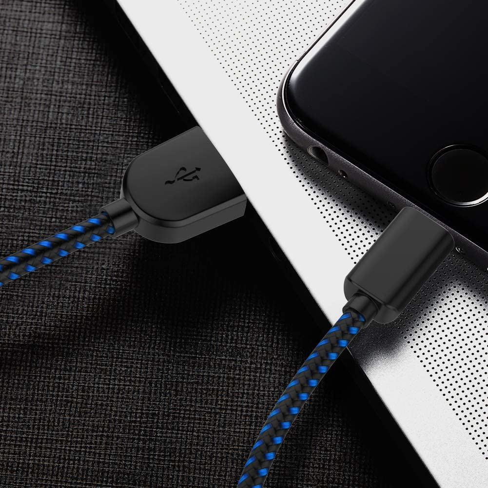 3//3//6//6//10FT Durable High Spped Nylon Braided USB Fast Charging /& Syncing Cord Compatible iPhone Xs//Max//XR//X//8//8Plus//7//6S//SE//iPad Blue PLmuzsz MFi Certified iPhone Charger Lightning Cable 5 Pack
