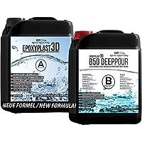 9,0 KG EpoxyPlast 3D B50 DEEP POUR Epoxyhars, Ultra Diamond Clear, Maximum UV-Weerstandsvermogen, Riviertafel, Sieraden…