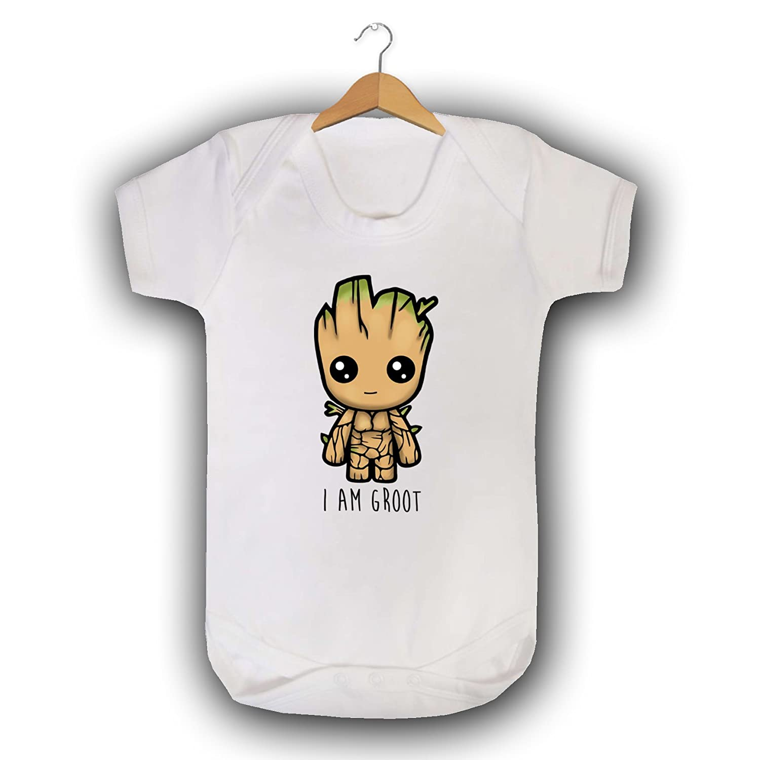 SMARTYPANTS I am Groot Babygrow Baby Vest Sleepsuit GOTG Guardians of The Galaxy Inspired Cute Funny Printed Baby wear