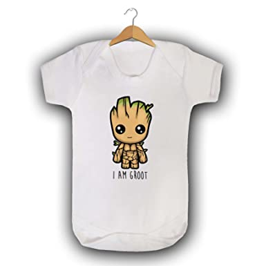 ad5180ad7 I am Groot Babygrow Baby Vest Sleepsuit GOTG Guardians of The Galaxy ...