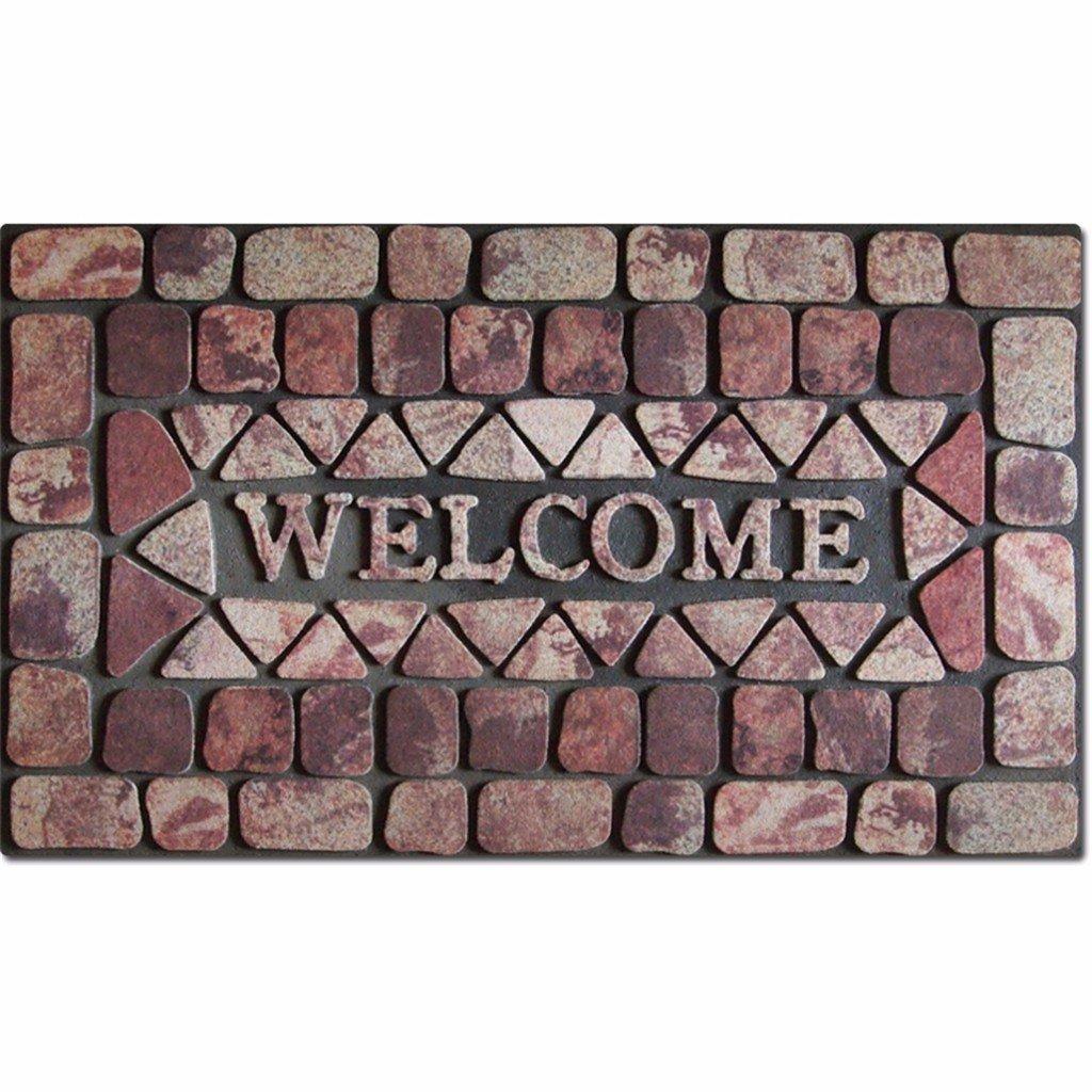 QIANMO Colchones colchones colchones Carpet Flocado de Goma Alfombrillas Europeo Puertas Exteriores Alfombras alfombras Alfombras alfombras de baño Cocina 4 ...