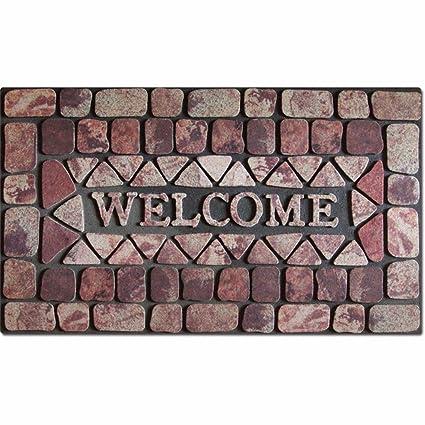 QIANMO Colchones colchones colchones Carpet Flocado de Goma Alfombrillas Europeo Puertas Exteriores Alfombras alfombras Alfombras alfombras