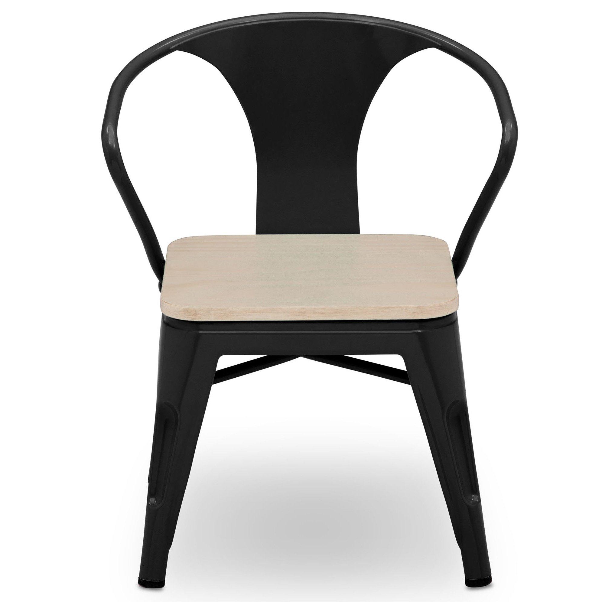 Delta Children Bistro 2-Piece Chair Set, Black with Driftwood by Delta Children (Image #4)