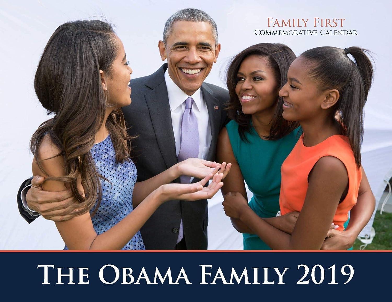 2019 Obama「ファーストファミリー記念」 13か月 写真カレンダー   B07JM53BX8