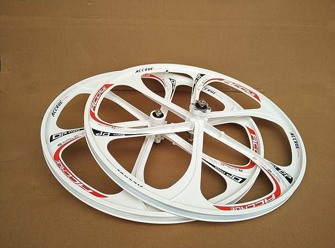 JARONOON Llantas de Bicicleta de monta/ña de 24//26 Pulgadas Llantas de Bicicleta de aleaci/ón de magnesio de 3 radios aptas para Rosca Rueda Libre