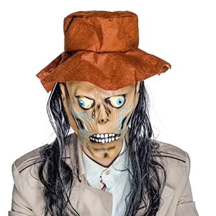 YUFENG Scary Halloween Face Mask ZOMBIE Grim Reaper Fancy Dress Horror Props