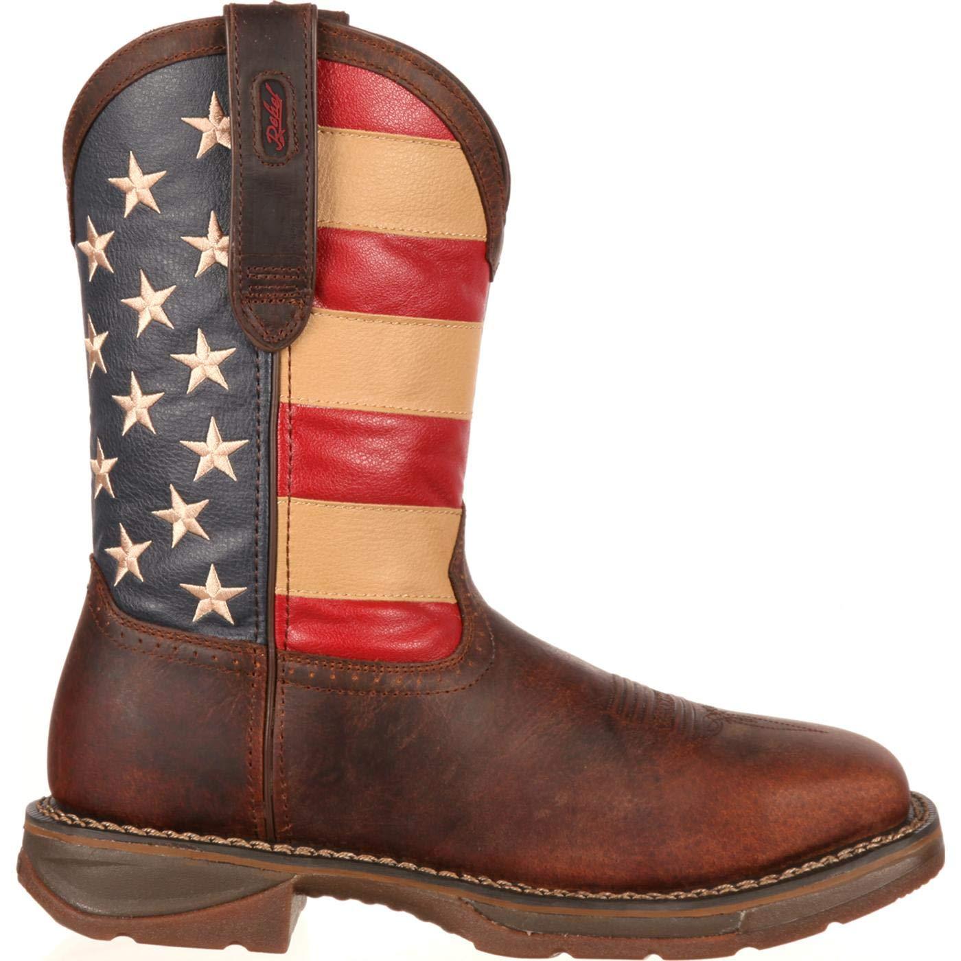 3cffcd7e915 Durango Rebel Steel Toe Flag Western Flag Boot