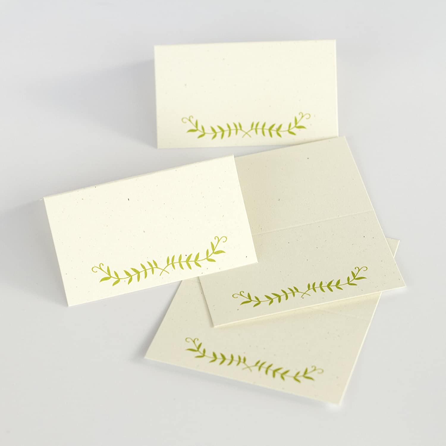 20 Folded Escort Cards, Wedding Place Cards, Write on Escort Cards (4-sp)