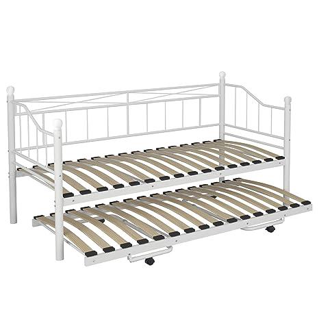 Miadomodo Letto singolo per soggiorno divano letto metallo ...