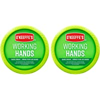 O'Keeffe's Working Hands Hand Cream, Extremely Dry Cracked Hands, Relieves and Repairs, Boosts Moisture Levels, Two 3…