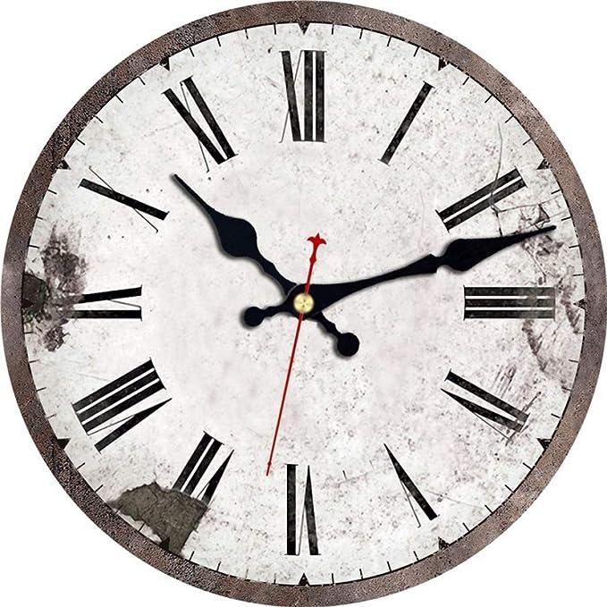 Amazon Com Qingqing Wall Clock Artistic European Design Wall Clock Silent Wall Clock Style Four Home Kitchen