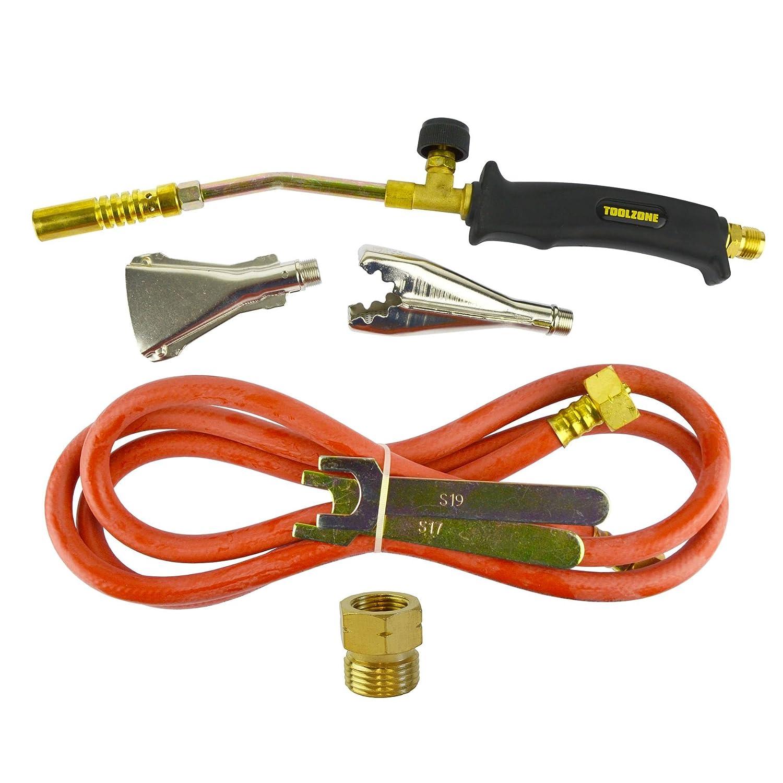 Soplete de gas Burner 2m de manguera techador fontanero Weed Kit regulador de propano: Amazon.es: Bricolaje y herramientas