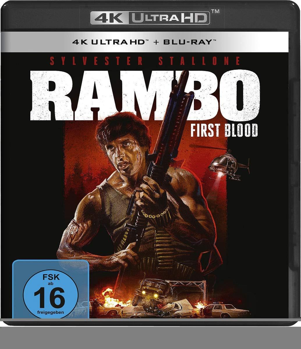 Rambo - First Blood (4K Ultra HD) [Italia] [Blu-ray]: Amazon.es: Stallone, Sylvester, Crenna, Richard, Dennehy, Brian, Caruso, David, Starrett, Jack, Kotcheff, Ted, Stallone, Sylvester, Crenna, Richard: Cine y Series TV