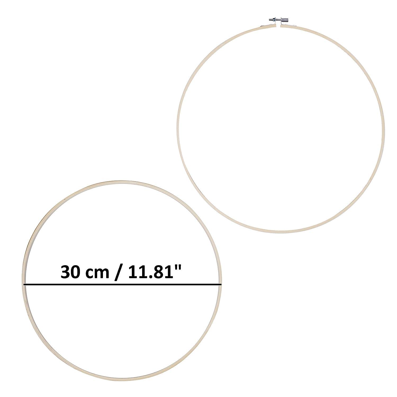 Cercle de Broderie Cercle /à Broder pour Point de Croix Loisirs Cr/éatifs Couture M/étier /à Broder Circulaire Lot de 6 Tambour Broderie R/églable - Cerceau /à Broder en Bambou 30 cm