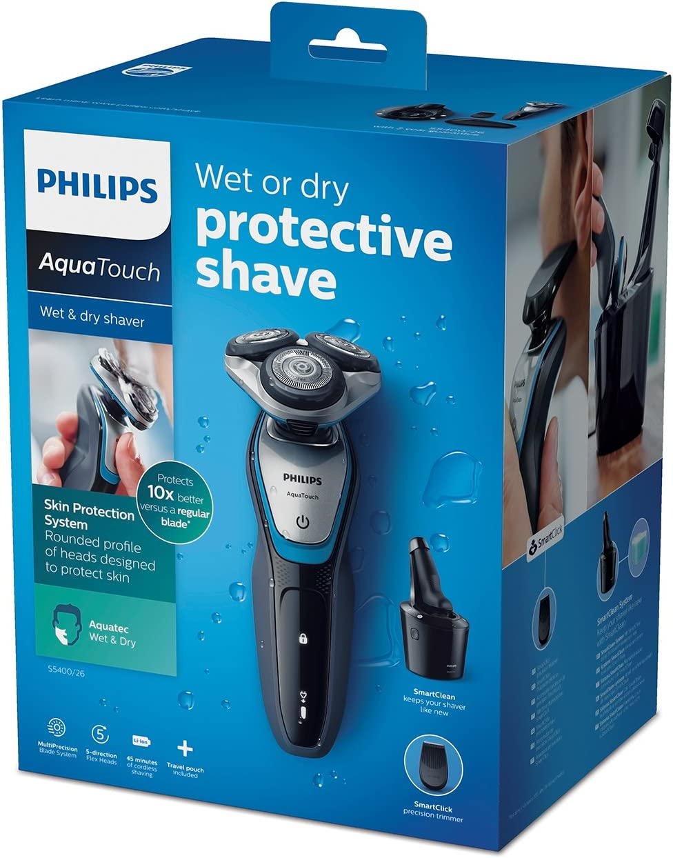 Philips S5400/26 AquaTouch húmedo y seco: Amazon.es: Salud y ...