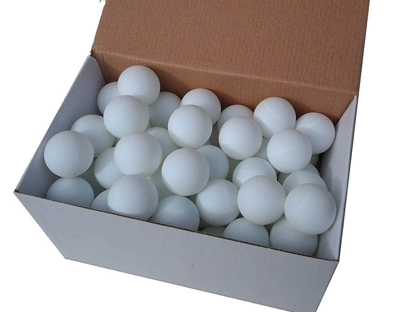 Tischtennisbälle Tischtennisbälle Tischtennisbälle 40mm ohne Aufdruck Ping Pong Ball stabiles Material Weiß Gelb 150 Stück d13c8e