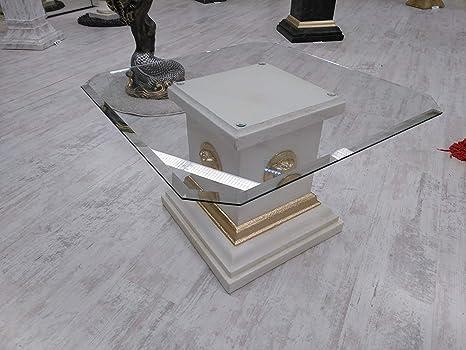 KARO FLIGHT Medusa Mesa Baja Mesa M?Andre – Bandeja de Cristal Mesa de Cristal Mesa de Centro Mesa Pintado Pintado? La Mano salón diseño Barroco