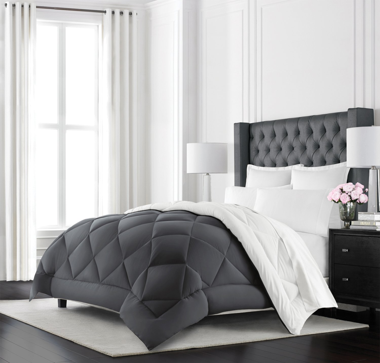 Beckham Hotel Collection Goose Down Alternative Reversible Comforter