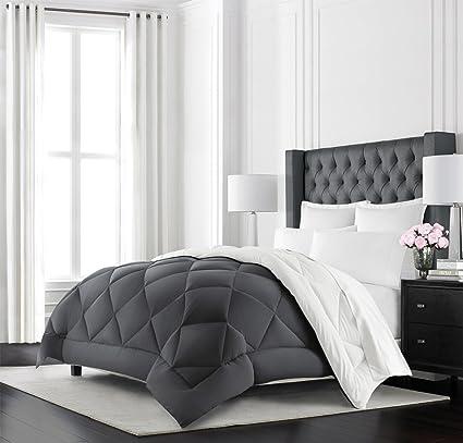 Beckham Hotel Collection Goose Down Alternative Reversible Comforter   All  Season   Premium Quality Luxury Hypoallergenic