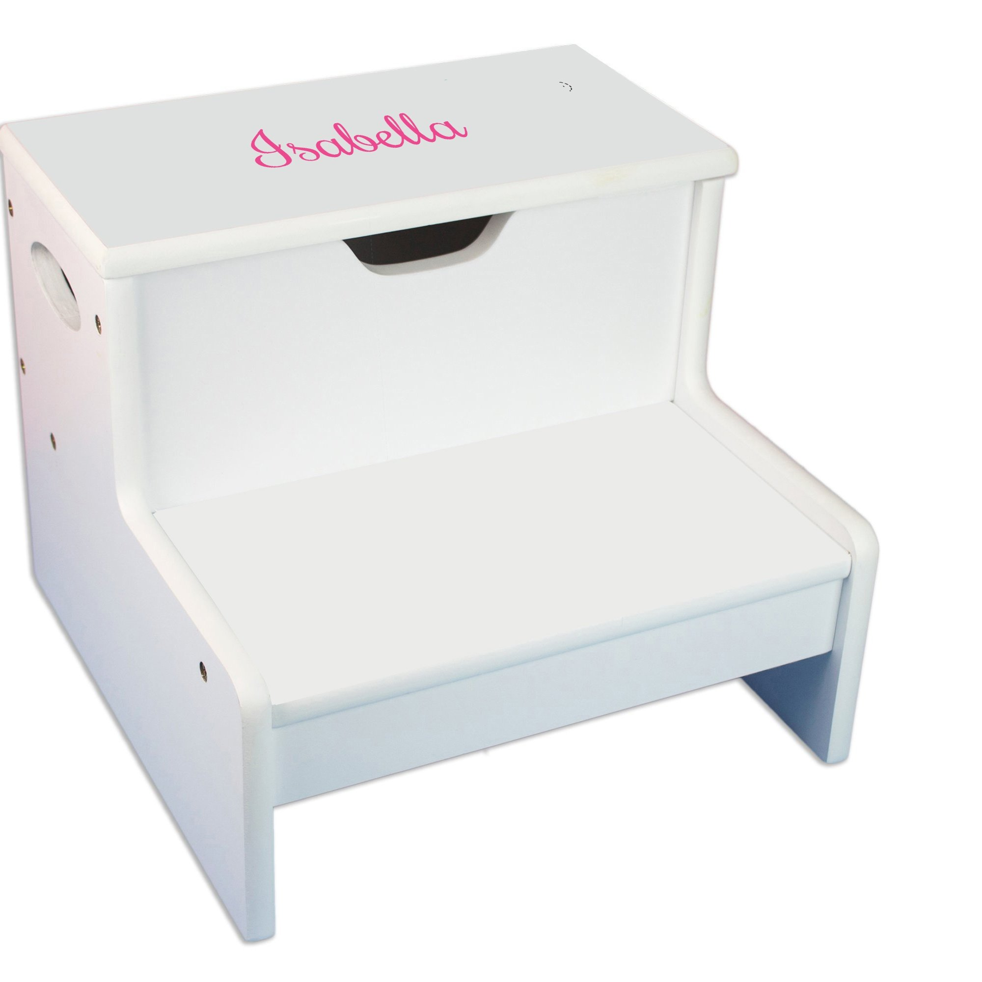 MyBambino Personalized Girls with name only Childrens Step Stool with Storage