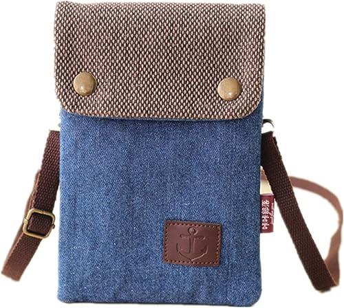 Women/'s Canvas Crossbody Cellphone Pouch Handbag Girls Messenger Shoulder Bag