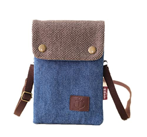 709a9325765898 YaJaMa Denim Small Shoulder Crossbody Bag Cellphone Pouch Purse with 2 Strap  for Women Girls (