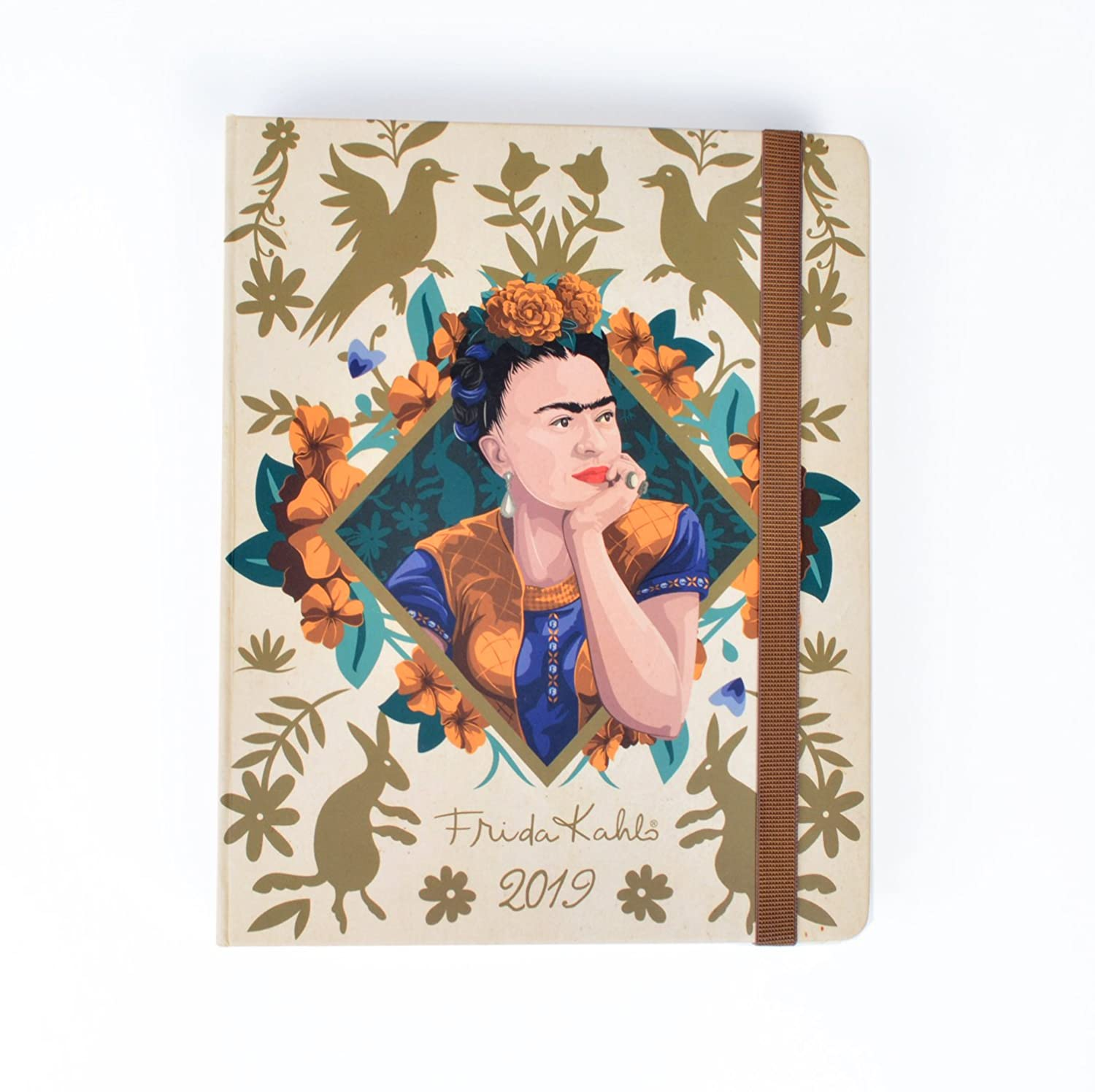 Frida Kahlo Weekly Planner, Yearly Planner and Daily Planner, 16-Month Form Sept-18 to Dec-19, Organizer, Calendar and Agenda, 6.3 x 8 6.3 x 8 Erik Group ASVP1804