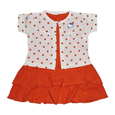 d553cb69 Orange and Orchid Baby Girl's A-Line Knee-Long Dress (Pack of 2 ...