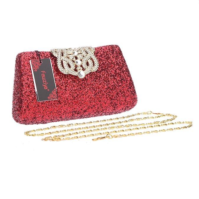 Amazon.com: fawziya Bling Corona Glitter Monederos y bolsos ...